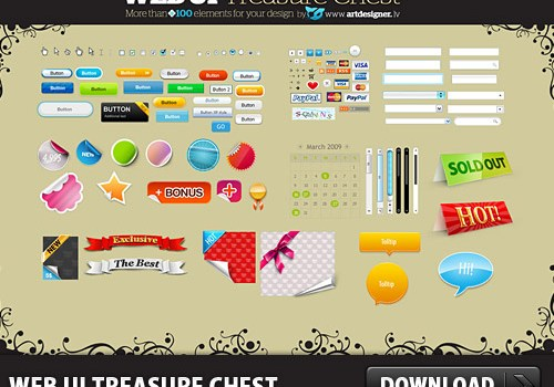 Free WEB User Interface Treasure Chest