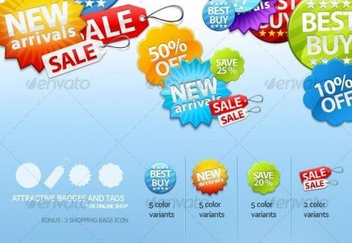 a beautiful e commerce website decoration icon psd layered material