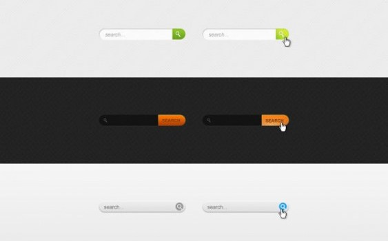 a variety of practical search bar psd layered material