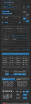 a very fine web design elements psd material