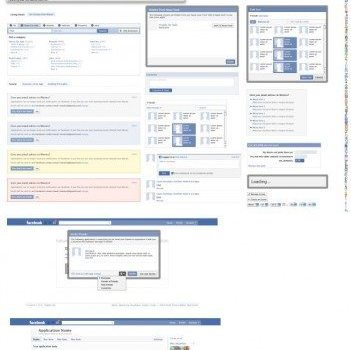 absolute professional facebook gui psd layered material  non original