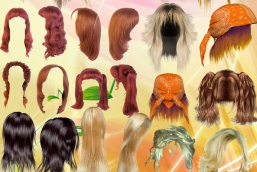 all kinds of beautiful hair   psd material