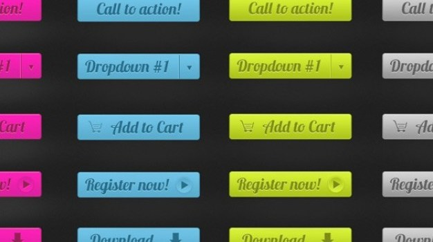 amazing call to action ui buttons set psd