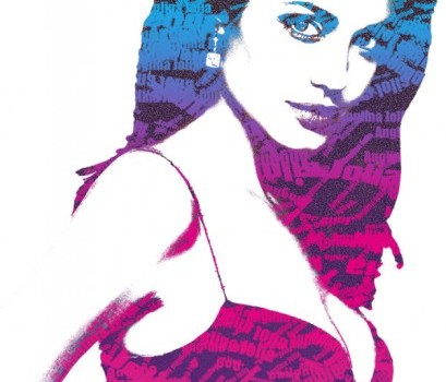 angelina jolie silhouette psd layered material