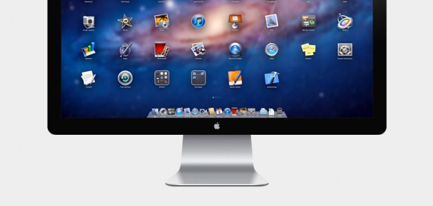 apple in led cinema display  psd