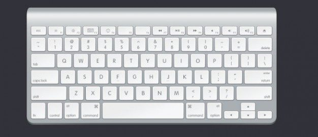 apple keyboard psd layered material