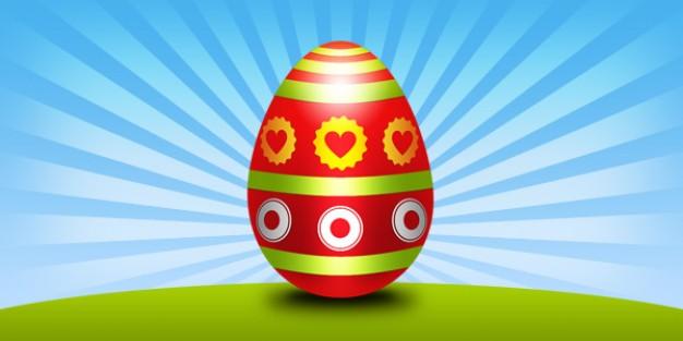 aster egg psd template