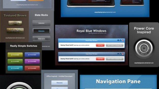 beautiful web design elements psd layered material