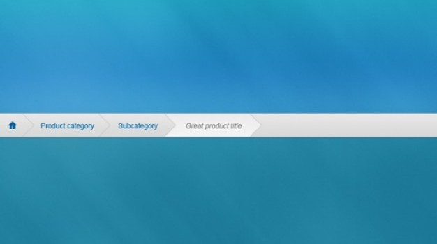 Blue breadcrumbs interface