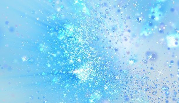 Blue magic dust background