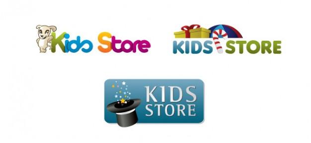 children logo design template for online store