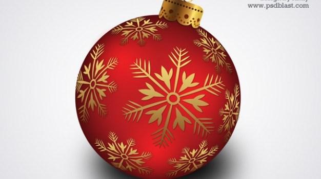 christmas hanging ball psd