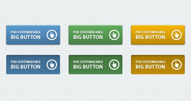 classic psd web buttons vol