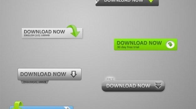 classy web   ui download buttons set psd