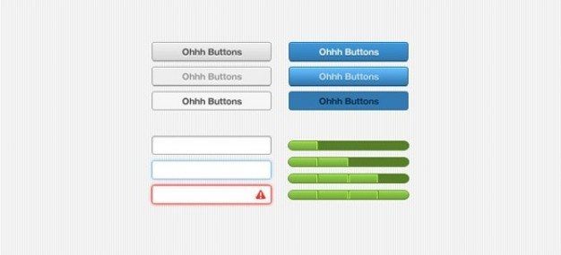 clean web ui button elements set psd