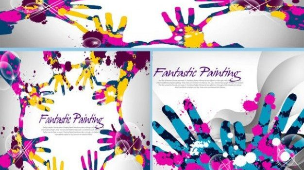 color ink handle the trend of the background layered material