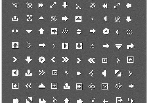 Common pixel icons PSD