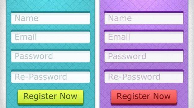 cool d register form web elements