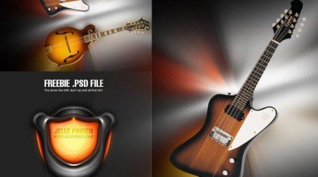 cool guitar sound psd material
