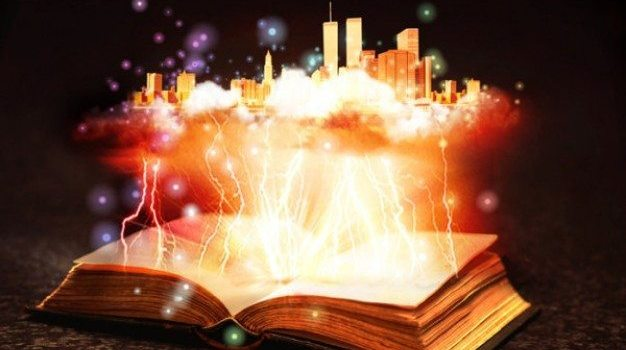 cool magic books layered material