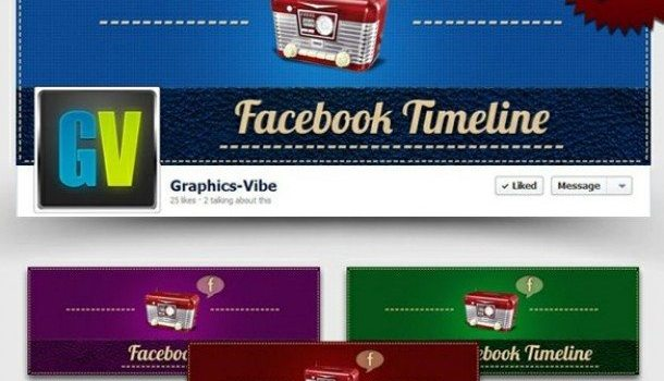 cool retro facebook timeline covers set