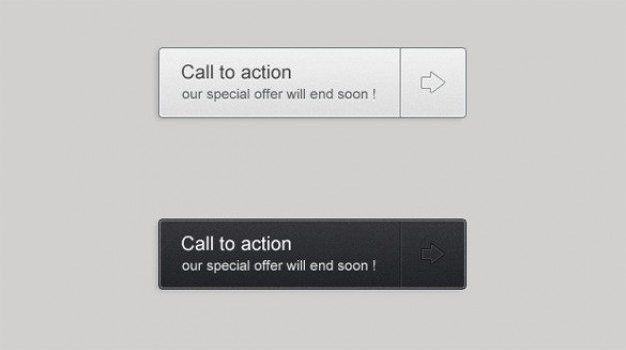 crisp call to action buttons set psd