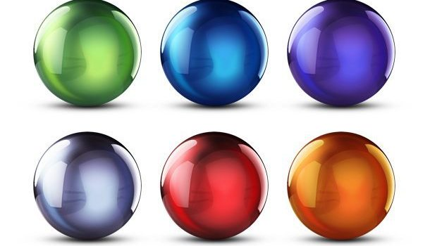 Colorful 3D crystal balls
