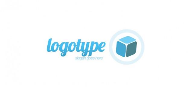 d cube logo design template