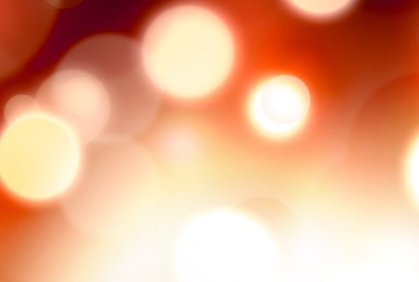 Defocused fire lights background