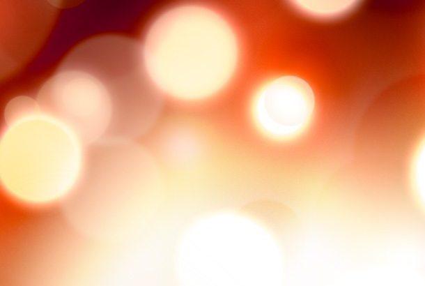 Defocused fire lights background