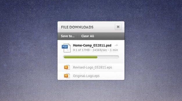 download file grunge osx progress bar widget