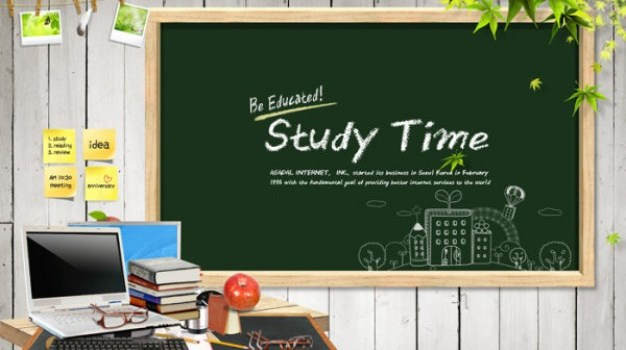 education and teaching posters psd material