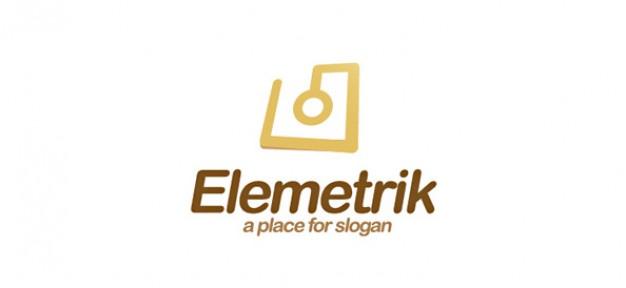electronic logo design template