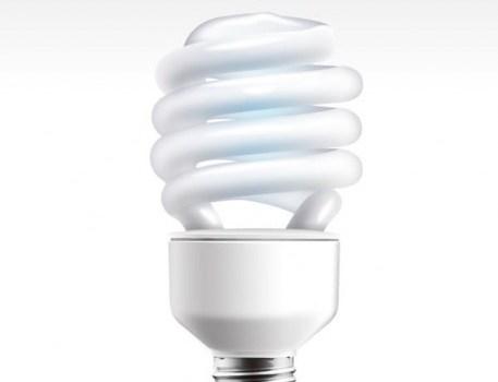energy saving light bulbs psd layered material