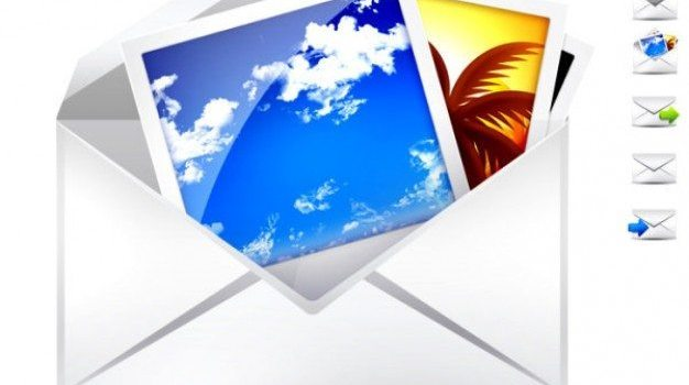 envelope and mail psd material