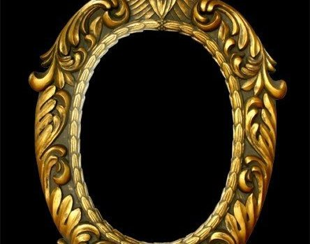 european ornate gold frame layered material