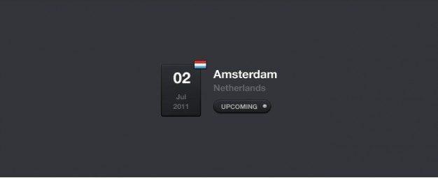 Event Calendar Widget PSD