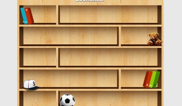 Exquisite bookcase PSD