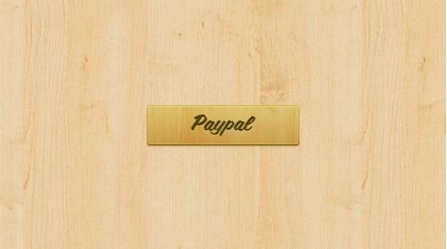 fine grain wooden paypal button psd