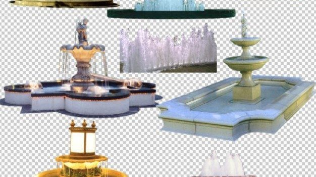 fountain psd image