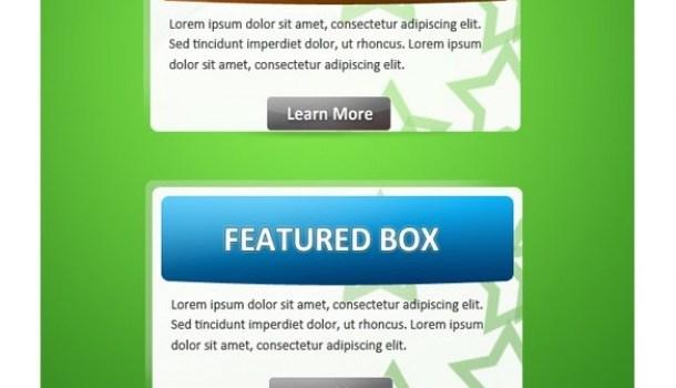 fresh web featured box ui element set psd