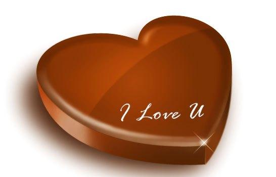 Heart shaped chocolate PSD