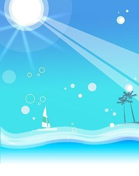 Korea style summer backgrounds layered PSD source materials 9