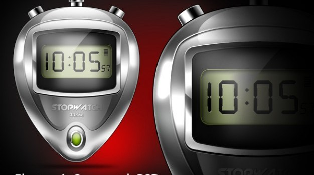 lectronic stopwatch psd & icon