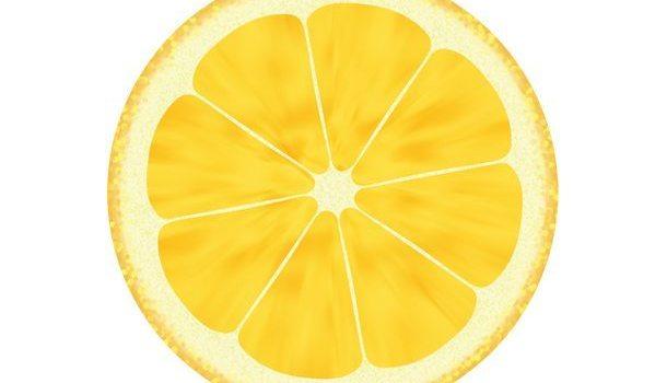 Fruit illustrations, lemon and orange icons