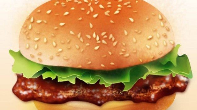 lifelike realistic hamburger   psd layered material