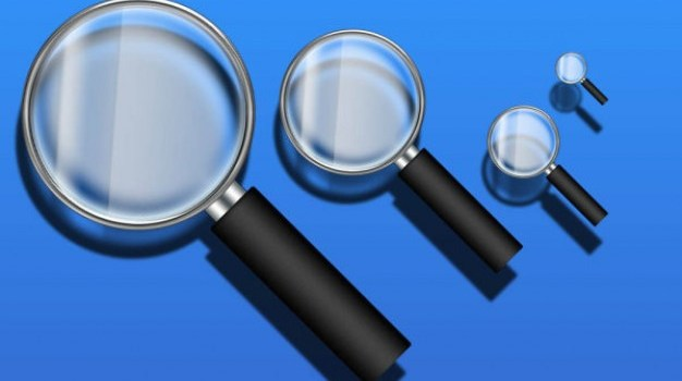magnifying glass icon   psd layered material