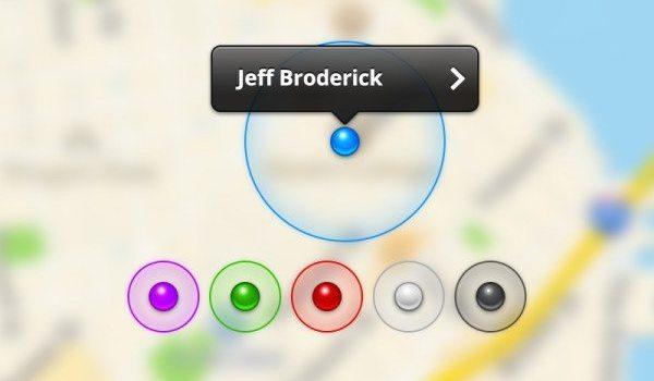 Map map locating UI