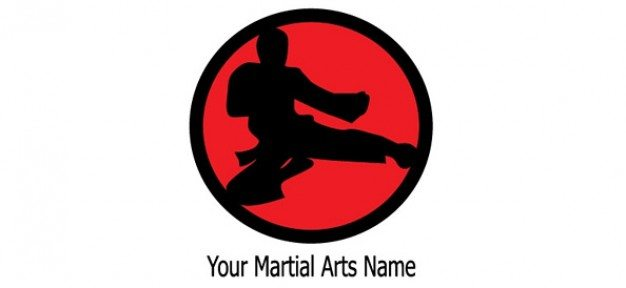 martial arts logo design template