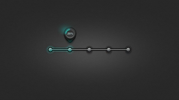 metal progress bar psd layered material
